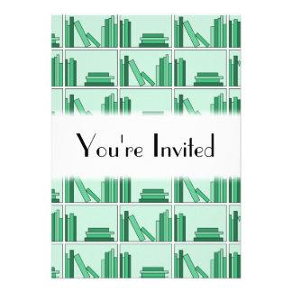Green Books on Shelf Card