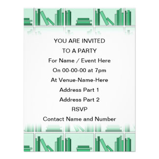 Green Books on Shelf Personalized Announcement
