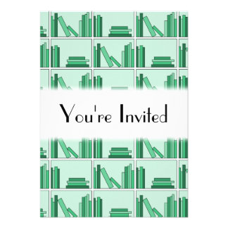 Green Books on Shelf Card