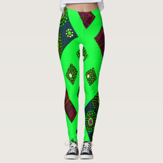 Green Boomble Bee Leggings