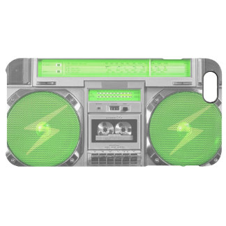 Green boombox clear iPhone 6 plus case