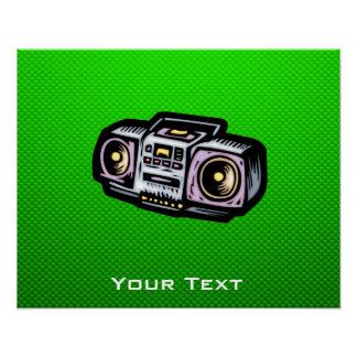 Green Boombox Posters