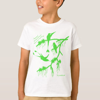 Green booted racket tail hummingbird T-Shirt