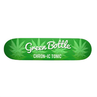 Green Bottle leaf design 20 Cm Skateboard Deck