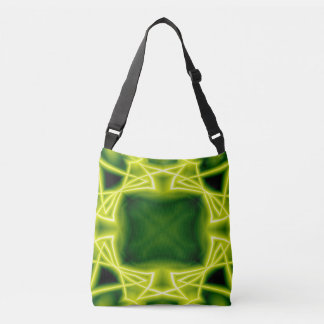 Green Boxes Crossbody Bag