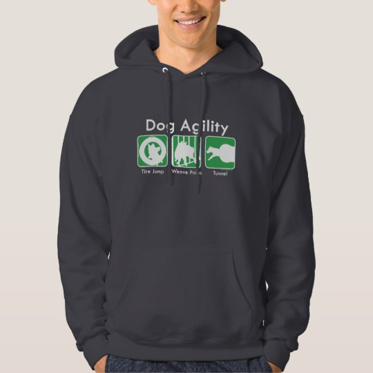 Green Boxes Dog Agility Hooded Sweatshirt