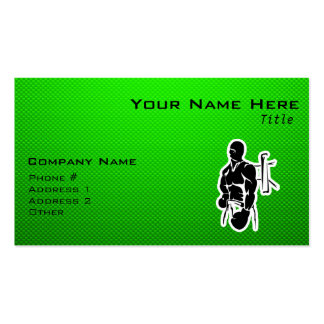 Green Boxing Pack Of Standard Business Cards