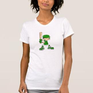 Green Boy Baseball Batter Tees