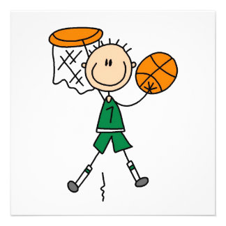 Green Boy Basketball Player t-shirts and Gifts Personalized Announcement