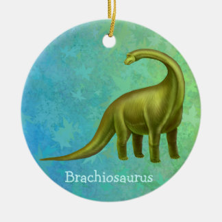 Green Brachiosaurus Dinosaur Ornament