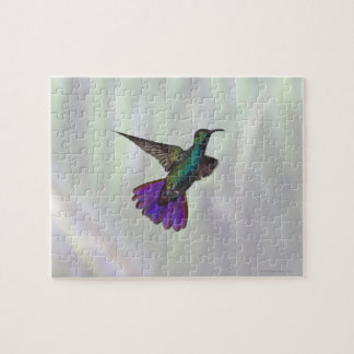 Green-breasted Mango Hummingbird Anthracocorax Jigsaw Puzzle