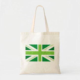Green Britain, Union jack Tote Bag