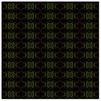 Green brown and black retro floral pattern cut out