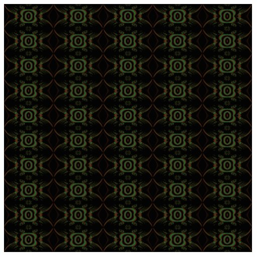 Green, brown and black retro floral pattern. acrylic cut outs