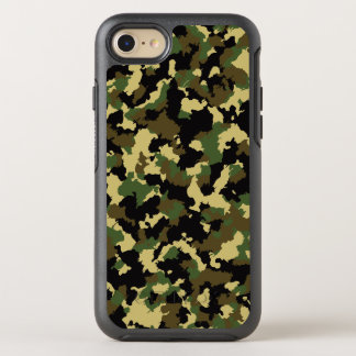 Green/Brown Camo OtterBox Symmetry iPhone 8/7 Case