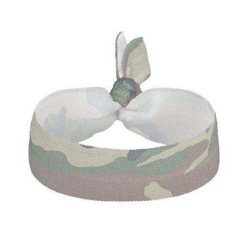 Green Brown Camouflage Hair Tie Ribbon Hair Tie