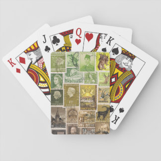 Green Brown Playing Cards, Boho Hippie Travel Gift Playing Cards