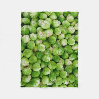Green Brussels cabbage Fleece Blanket
