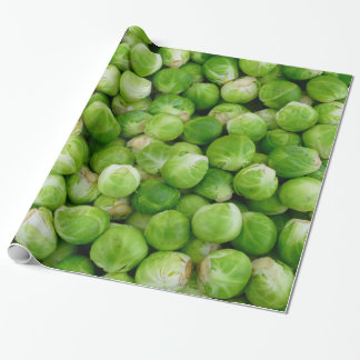 Green Brussels cabbage Wrapping Paper