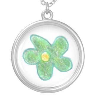 Green Bubble Flower Custom Necklace