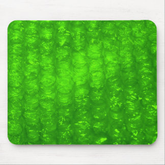 Green Bubble Wrap Effect Mouse Mat