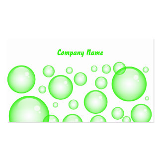Green Bubbles, Company Name Business Card Template