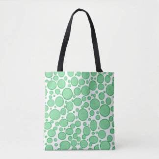 Green Bubbles Lightened Tote Bag