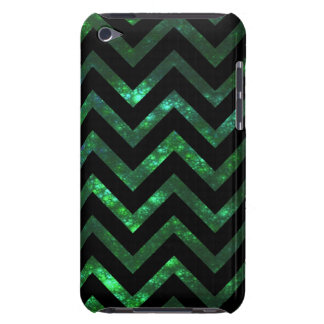 Green Bubbly Fractal Chevron iPod Case-Mate Cases