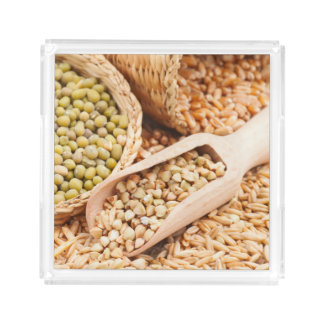 Green Buckwheat, Wheat, Oat And Mung - Cereal Acrylic Tray
