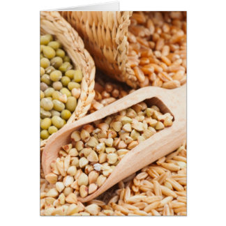 Green Buckwheat, Wheat, Oat And Mung - Cereal Card
