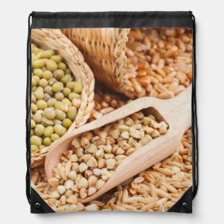 Green Buckwheat, Wheat, Oat And Mung - Cereal Drawstring Bag