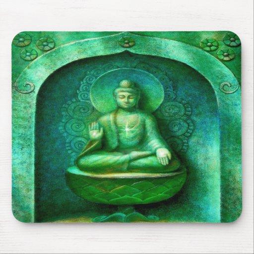 Green Buddha Mousepad