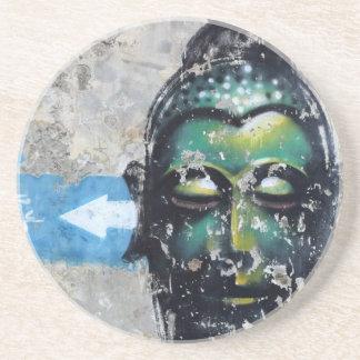 Green Buddha Sandstone Coaster