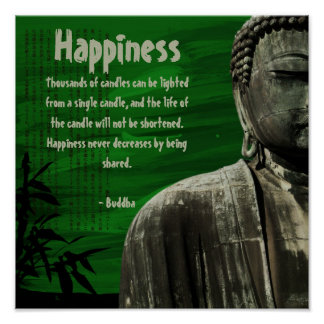 Green Buddha Statue Square Poster Customizable