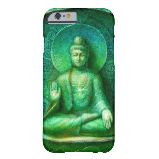 Green Buddha Zen Meditation iPhone 6 case Barely There iPhone 6 Case