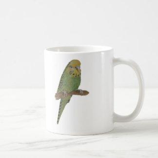 Green Budgie Art Coffee Mug