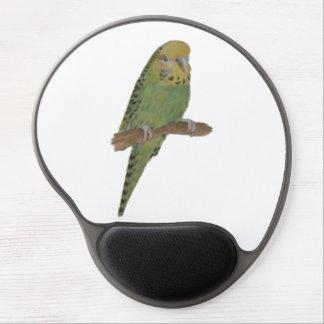 Green Budgie Art Gel Mousepad Gel Mouse Mat