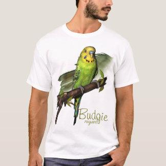 Green Budgie Art Tee
