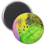 Green Budgie Fridge Magnet