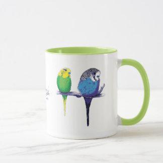 Green Budgie Parrot Bird Mug