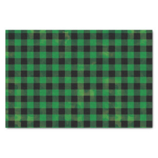 Green Buffalo Check Tissue Paper