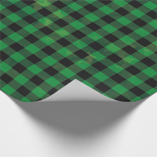 Green Buffalo Check Wrapping Paper