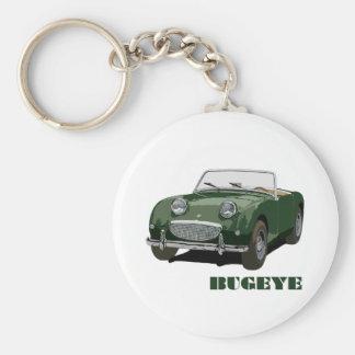 Green Bugeye Basic Round Button Key Ring