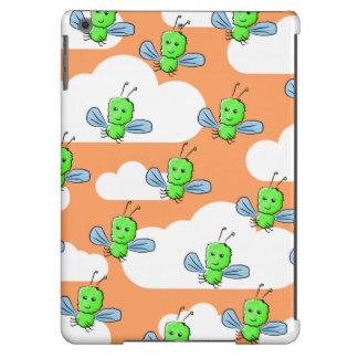Green Bugs and Orange Sky. iPad Air Covers