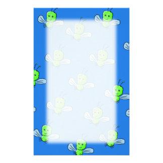 Green Bugs Pattern Stationery