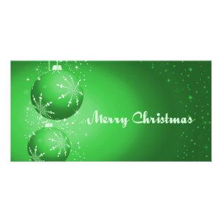 Green Bulbs Customized Photo Card