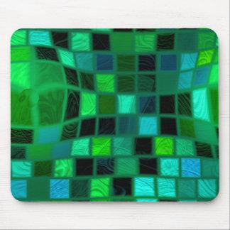 green bulgy tiles mouse pad