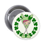 green bunny buttons