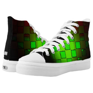 Green Burst Printed Shoes