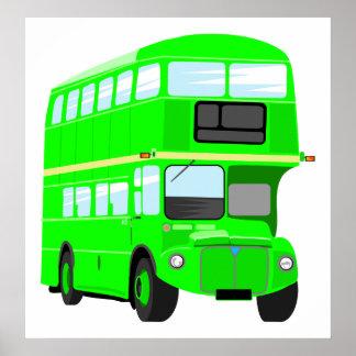 Green Bus Print